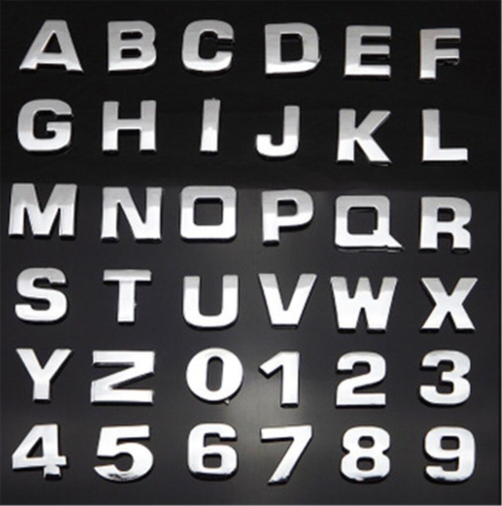 高品質自動車スタイリング 3D 金属デジタル手紙車のステッカー黒シルバーオペルアストラ/gtc/j /h コルサアンタラ Meriva でザフィーラ