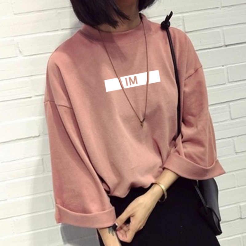 Camiseta de manga media con cuello redondo con estampado de nombre de miembro de Monsta x para fans de kpop, camiseta a la moda para chicas de primavera y verano en 3 colores