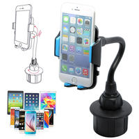 Gooseneck Cup Holder Cradle Adjustable Car Mount For Cell Phone IPhone Universal C45