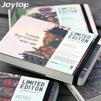 JOYTOP Literary Landscape Stationery Vintage Pastel Drawing Pockets Notepad Lovely A5 Notebook 4 Styles Gift 288P