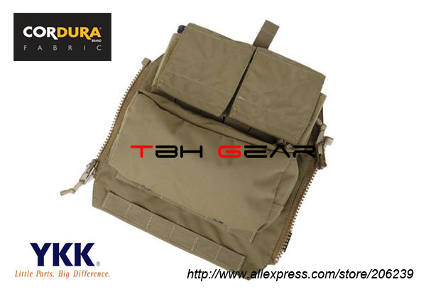 TMC Zip Pouch Panel Coyote Brown Ammo MOLLE Vest Pouch+Free shipping(SKU12050334) tmc vest 94k m4 pouch plate carrier tactical military vest matte coyote brown free shipping sku12050549