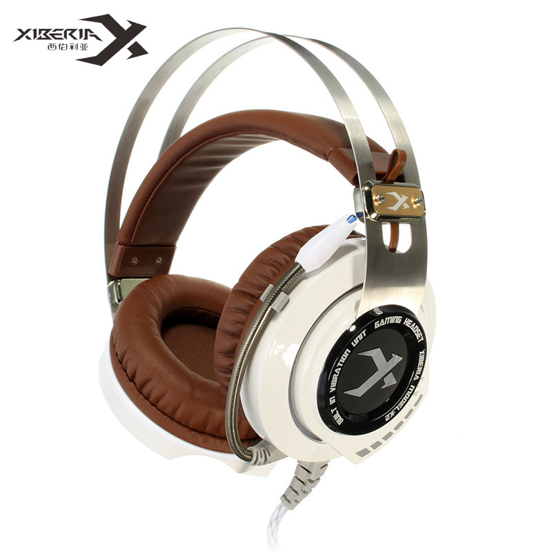 XIBERIA K2 Gaming Headset Breathing Stereo Deep Bass LED Light Headphones With Microphone Headphone Mic Music PC Gamer Headband g1100 vibration function professional gaming headphone games headset with mic stereo bass breathing led light for pc gamer