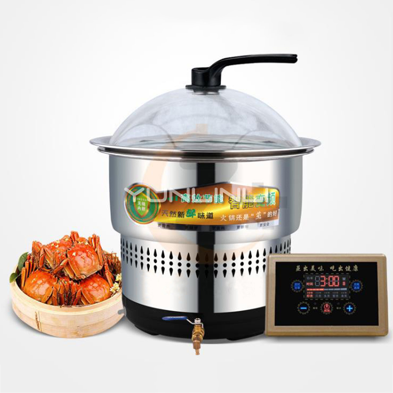 Intelligent Steam Hot Pot Commerical/Household Electric Hot Pot Stainless Steel Multifunctional Cooker BST-19C medical stainless steel pot oil pot
