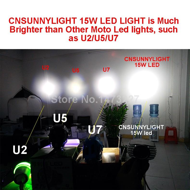 LED DC 8-85V Motorbike Motorcycle External Headlight Fog DRL Lamp Bulb Light Scooter ATV Bike High Quality For Driving Hunting (7)