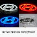 Стайлинга автомобилей 4D Led Автомобиль Логотип Свет Авто Лампы Эмблема Лампы для Hyundai Ix35 I30 Соната Tucson SantaFE Genesis Coupe Elantra Verna