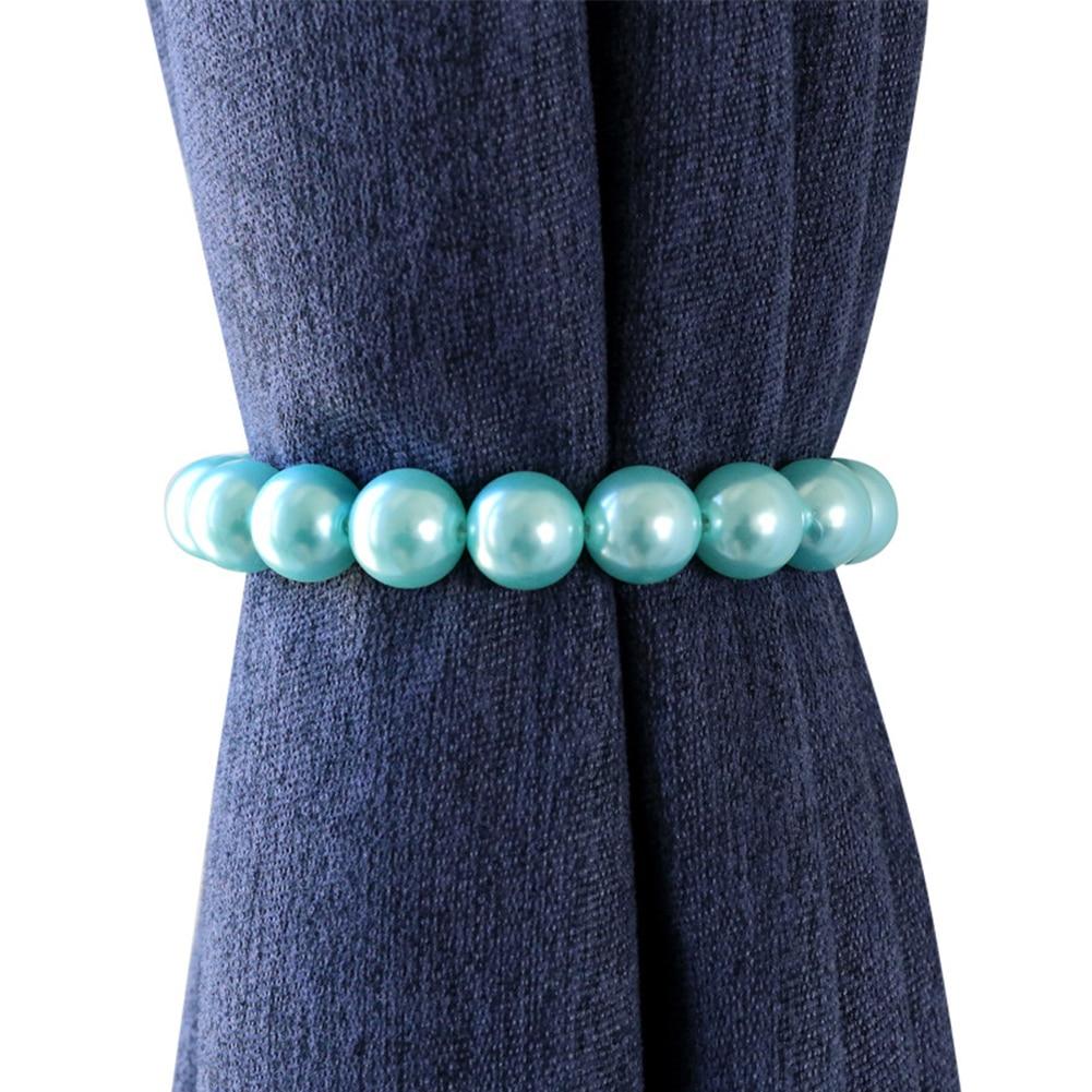 1 Paar Pearl Ronde Gordijn Houder Kralen Gordijn Gesp Bandage Woondecoratie Eenvoudige Moderne Magnetische Tieback