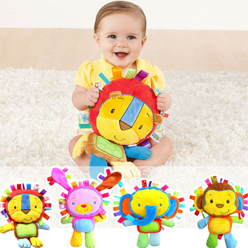 Baby Plush Toys font b 2017 b font Hot Sale Plush Toys With Rattles BB Device