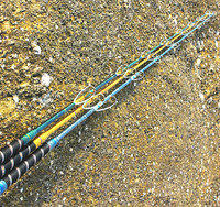 New arrival heavy metal rod1 pcs/Lot 1.8/2.1 m FRP material boat fishing rods telescopic/sea fishing pole