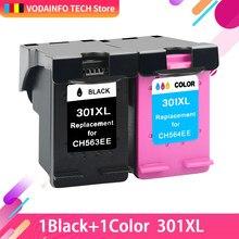QSYRAINBOW – Pack de cartouches d'encre de remplacement pour imprimante, 1 jeu, consommables compatibles avec HP 301, 301XL, Deskjet 1050, 2050, 3050, 2150, 1510, 2540,