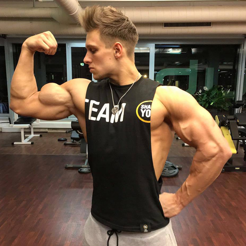 summer mens gyms tank top bodybuilding cotton sleeveless brand fitness vest muscle male fashion. Black Bedroom Furniture Sets. Home Design Ideas