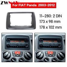 Telaio auto Lettore DVD Per Il 2003-2012 FIAT PANDA 2DIN Auto Radio Multimedia NAVI fascia