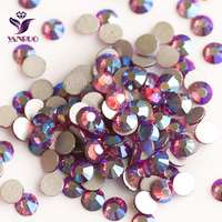YANRUO Smoked Topaz AB 220AB Non Hot Fix Glass Crystal Flatback Beads On Dance Dress Party