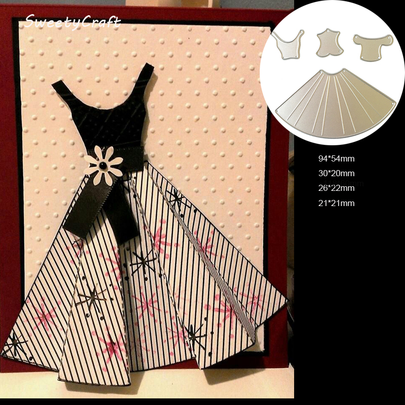 dies scrapbooking princess dress build up metal cutting