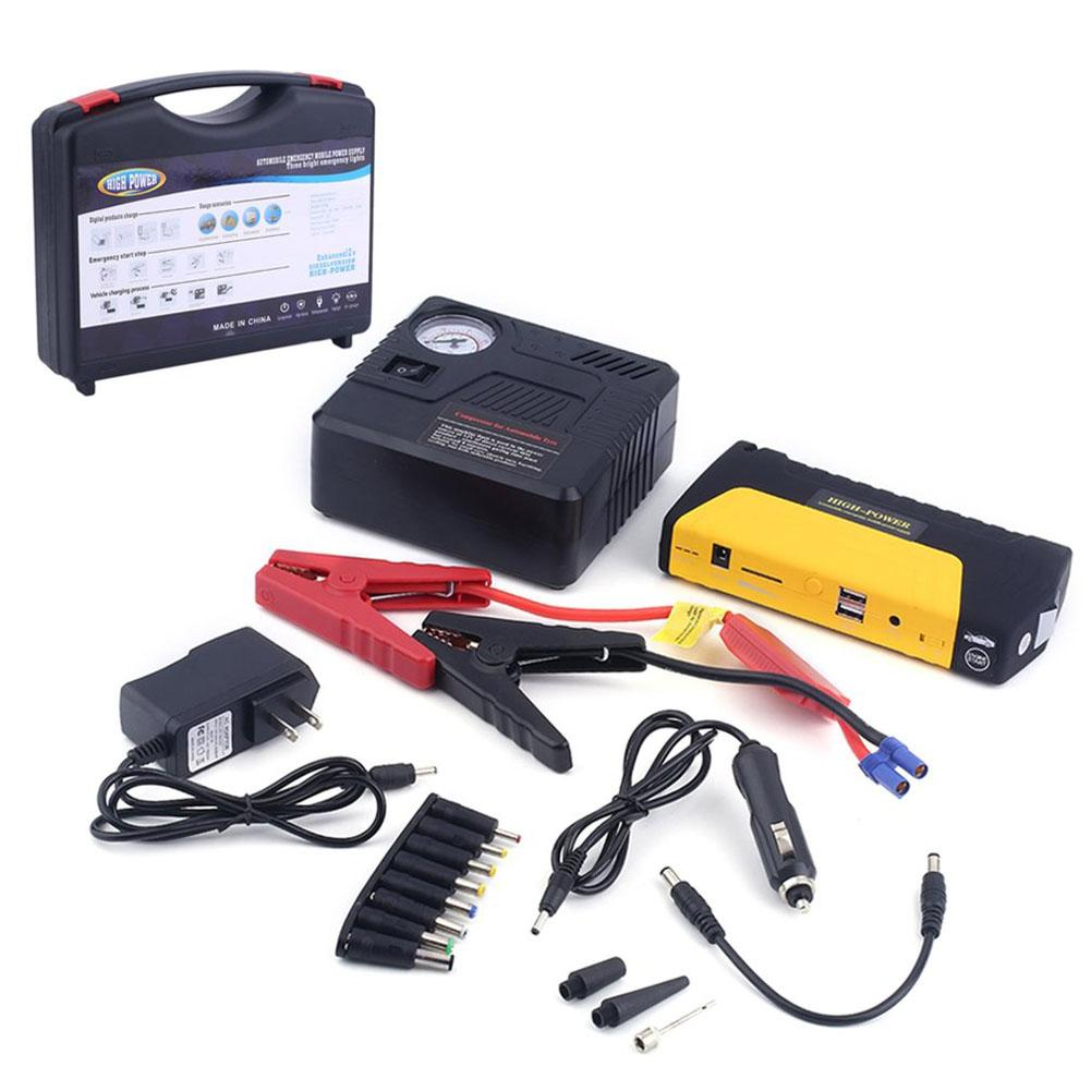 68800MAH 12V Car Emergency Power Supply Car Jump Starter Emergency Booster Power Bank With Air Pump Kit 68800mah 12v car emergency power supply start battery charger engine booster power bank car jump starter support fast charge