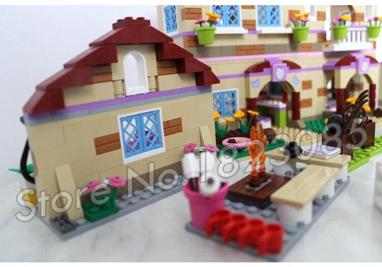 1118 шт. друзья Heartlake летний лагерь для верховой езды 10170 лошади Чемпион Солнце фигура Строительные блоки игрушки совместимы с LegoING - 3