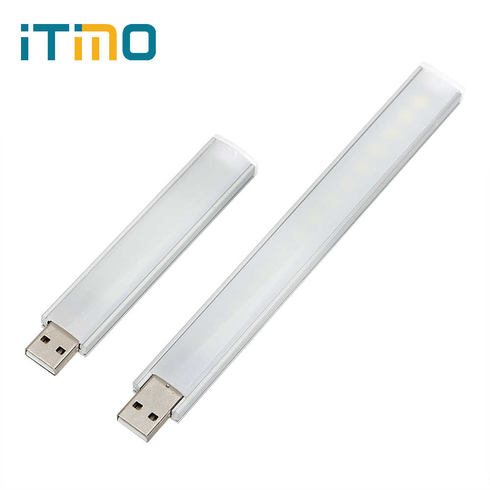 iTimo USB LED Strip Light Night Light Portable Lamp for PC Desktop Laptop Notebook Reading Desk Lamp Mobile Power Light