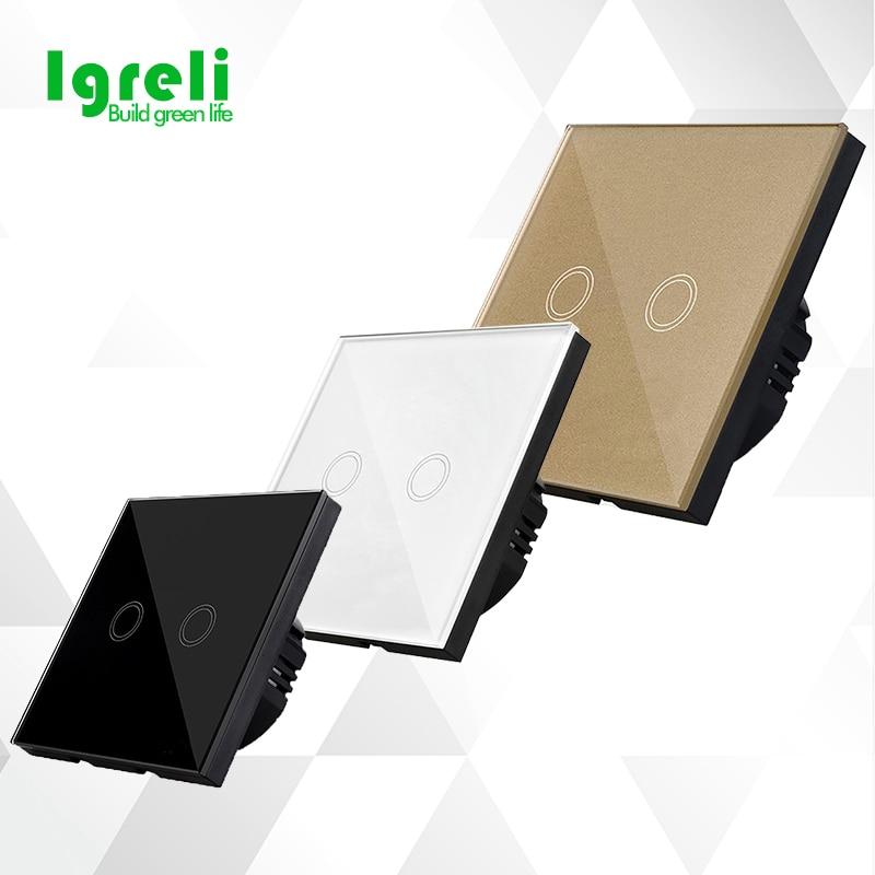 Interruptores e Relés 1 way toque wall switch, Standard : eu Standard