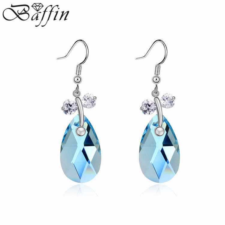 énorme réduction 590fd b552e US $13.36 21% OFF Bohemian Drop Earrings Made with Swarovski ELements  Crystal Pendientes Bijoux femme for wedding-in Drop Earrings from Jewelry &  ...