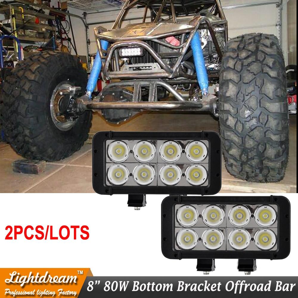 led light bar 12V Exernal lights 80W offroad work driving light bar for toyota corolla mazda bmw e46 honda x2pcs led car lights