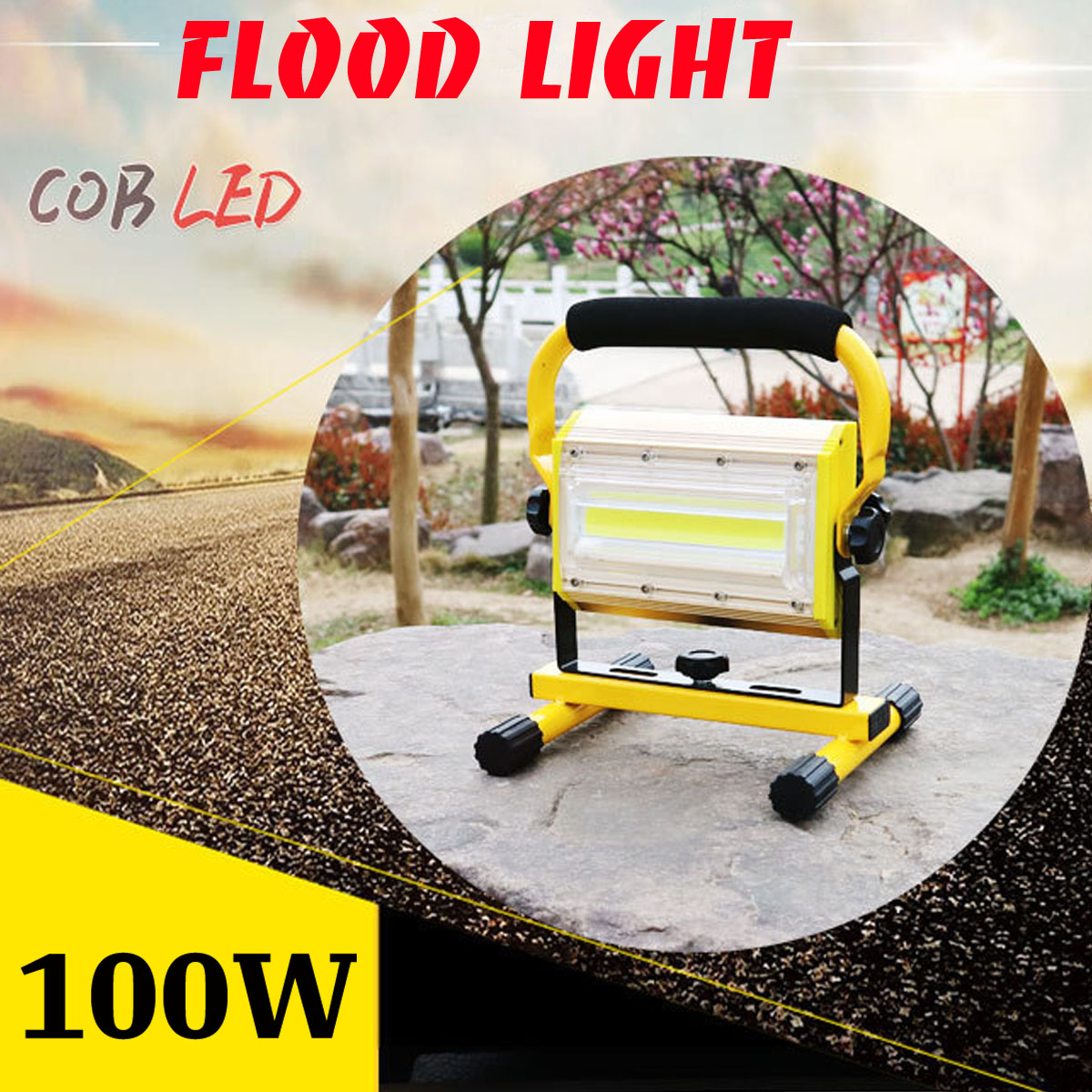 2400lm 100W Flood Light Powerful Waterproof Rechargeable LED Tactical Camping Fishing Working Torch Flash Lamp Flashlight2400lm 100W Flood Light Powerful Waterproof Rechargeable LED Tactical Camping Fishing Working Torch Flash Lamp Flashlight