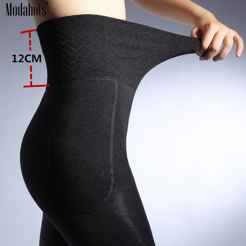 Winter Women High Waist   Leggings   Thick Warm Pants Slimming Thicken High Elastic Women's Velvet   Leggings   Black   Legging   Femme