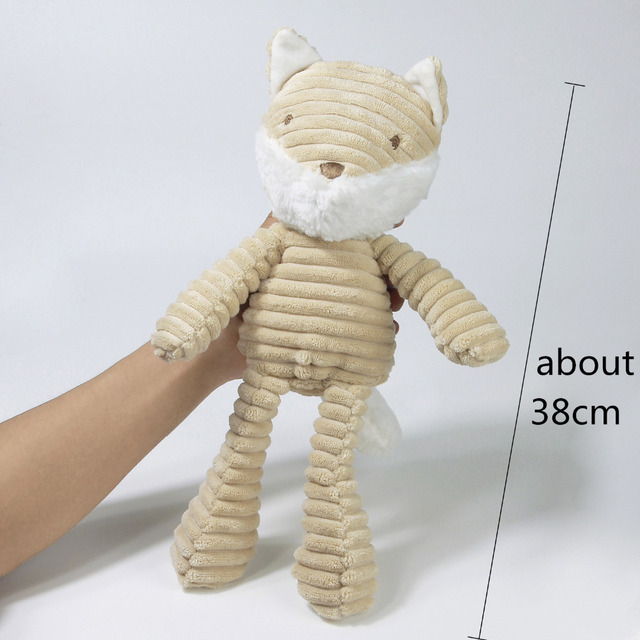 21cm Baby Toy Cute Teddy Bear Plush Doll Baby Rattle with Ring Bell Early Educational Toy 1Y+