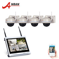 ANRAN 4CH 1080P Wireless 12Inch LCD Screen NVR Kit Outdoor Security Network WIFI Camera CCTV Home