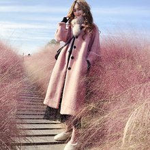 Hepburn Mink Fur Coat Pink Furry Jacket Long Fur Coat Mink Fur Plush Coat X-Long Single Breasted Pink Fur Jacket Streetwear fur jacket rosenberg page hrefhref page 8