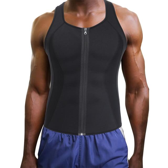 Neoprene Mens Collant Treino Trainer Cintura Colete Shapewear Corpo  Emagrecimento Espartilho para Homens Shaper Queimar Gordura f43ed0b275e