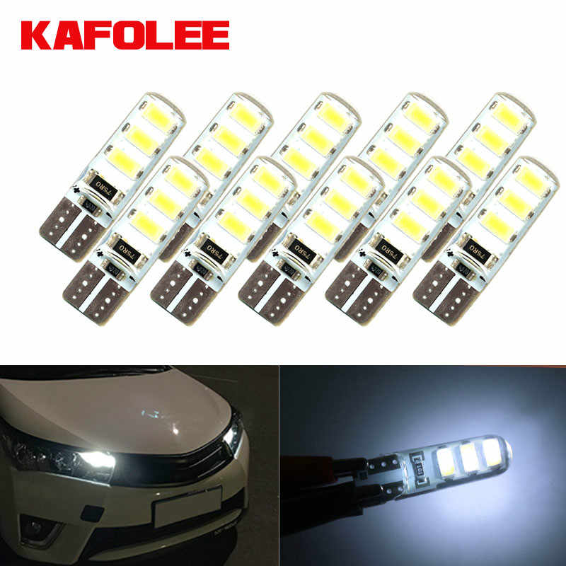 Gzkafolee 10pcs Clearance Lights t10 w5w led Turn Signal 12V Parking Bulb Auto Wedge Clearance Bright White License Light Bulbs