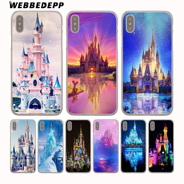 sale retailer b2dc0 e3cc2 US $1.88 6% OFF|WEBBEDEPP Cinderella Castle Hard Phone Case for iPhone X XS  Max XR 7 8 6S Plus 5 5S SE 5C 4 4S Cover-in Half-wrapped Case from ...