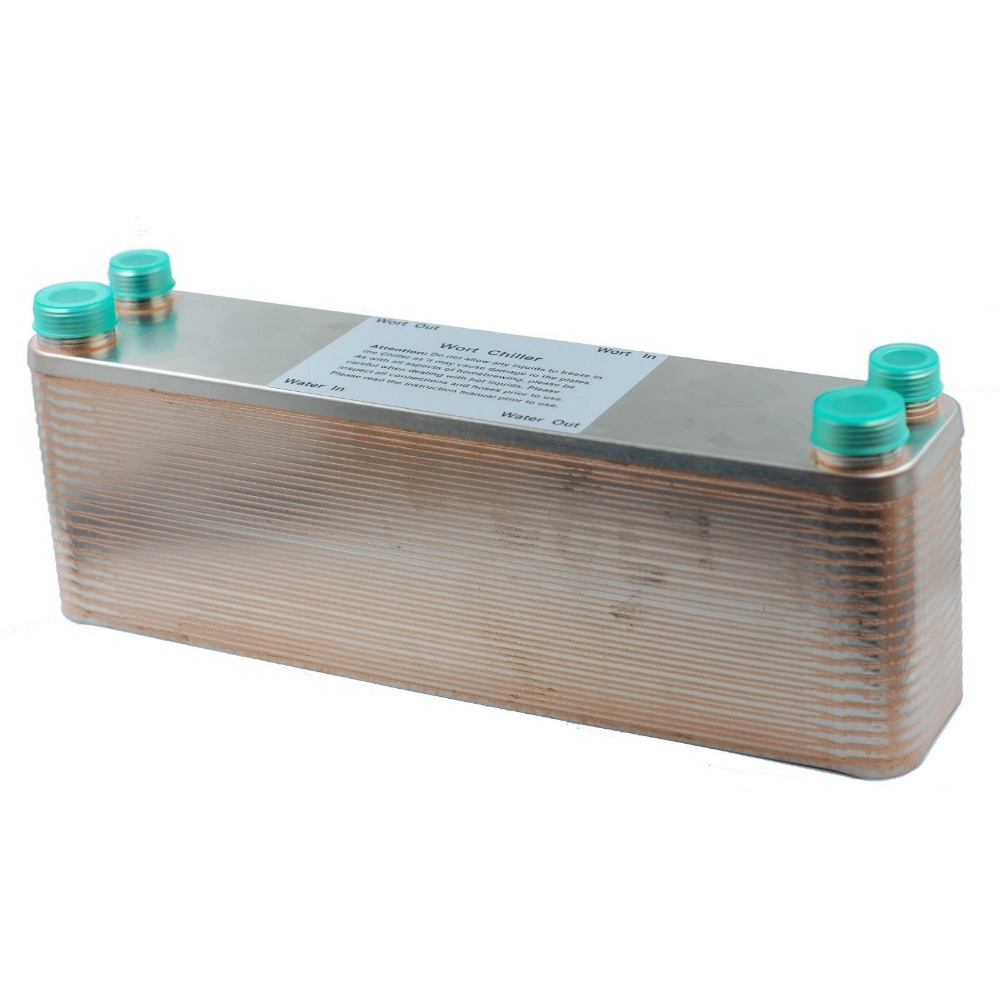 """40 Plate Wort Chiller,12.4""""x2.9"""", SS304, Brewing Chiller  World Free Shipping-in Other Bar Accessories from Home & Garden    2"""