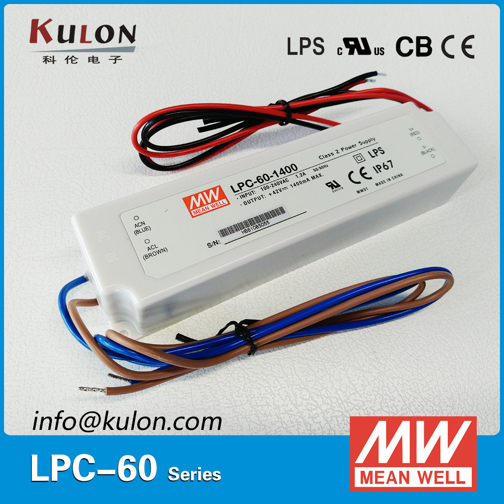 все цены на Meanwell LPC-60-1400 Single output 60W 1400mA Switching power supply constant current waterproof LED driver Meanwell онлайн