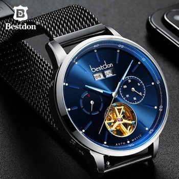 Bestdon Skeleton Mechanical Men's Watch Big Dial Automatic Sports Wrist Watches Switzerland Top Brand Luxury Waterproof Relogio - DISCOUNT ITEM  40% OFF All Category