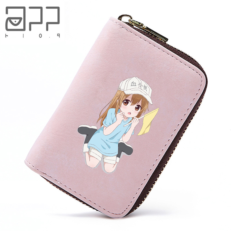 APP BLOG Anime Hataraku Saibou Cells At Work Card Holder Credit Student Girl ID Passport Cover Bank Cards Wallet Money Bag 2018 app blog lovely pikachu women travel passport bag credit id card holders cash wallet documents case 2018 zipper cards organizer