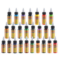 NEW 25 colors body paint tattoo ink permanent makeup Microblading pigment tattoo and body art paint tattoo set