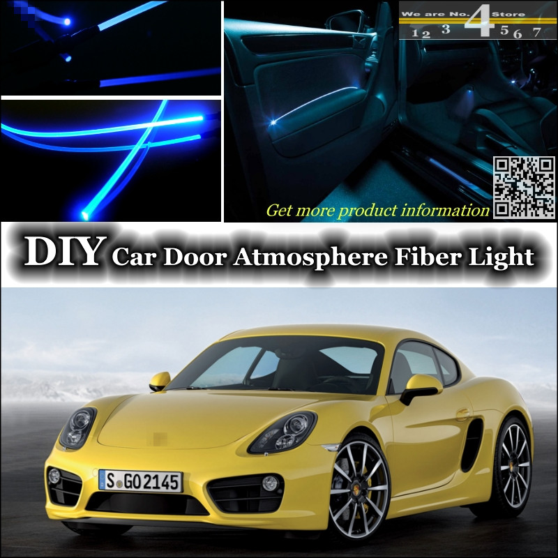 interior Ambient Light Tuning Atmosphere Fiber Optic Band Lights For Porsche Cayman 987C 981C Inside Door Panel illumination