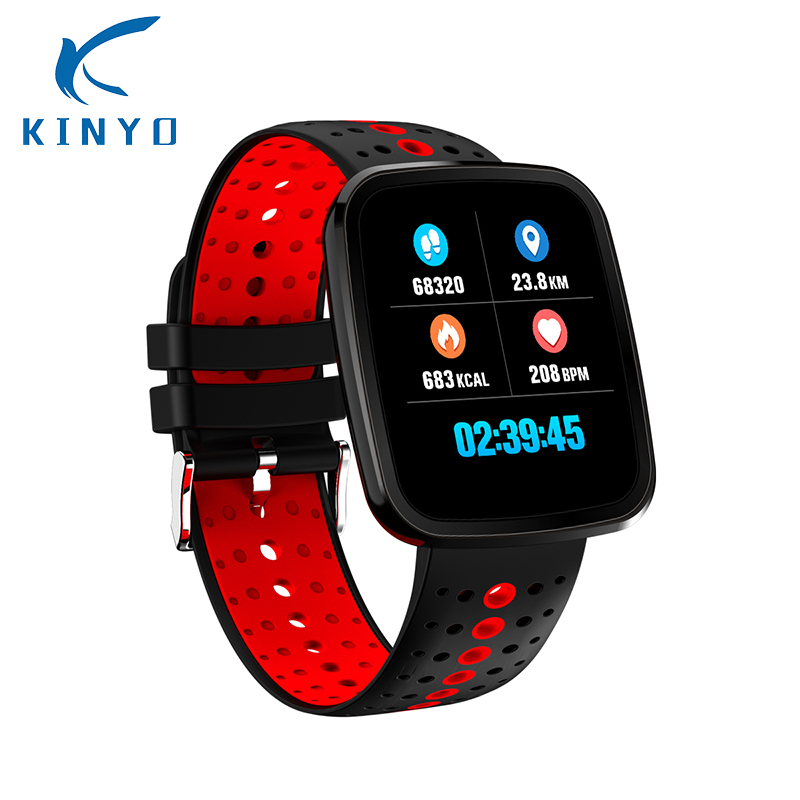 2018 New Smart Watch IP67 Waterproof Two Different time-display Heart Rate Monitoring Smart Band Wristband pk xiomi mi band 2 2018 heart rate smart band smart bracelet waterproof activity wristband high capacity low power usb charging pk xiomi mi band 3