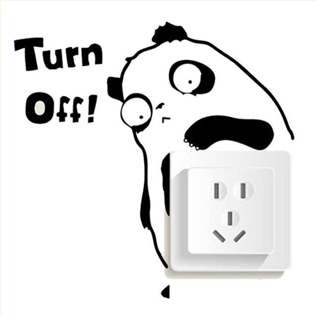 Animal Cute Panda Lights Switch Turn Off Vinyl Wall ...