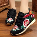 New 2017 Normal Travel  Shoes Women Embroidery Shoes Old Peking Mary JaneSoft Sole Buckle Casual Flats Dance Shoes