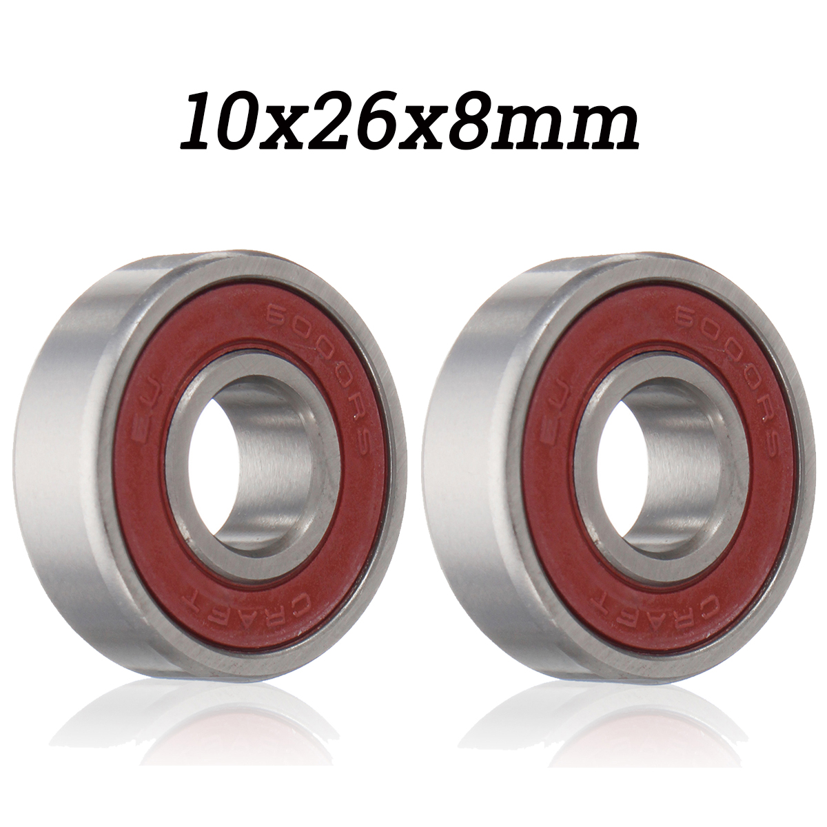 6000 2RS/6000 RS Ball Bearing 10x26x8mm High Quality Red Sealed Rubber Shields Deep Groove Ball Bearing Stainless steel 5pcs lot 6000 2rs 6000 rs 10x26x8mm rubber sealed deep groove ball bearing miniature bearing