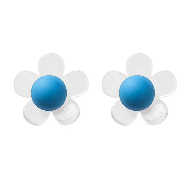 Pendientes de verano coreanos pendientes de acrílico transparentes Pendientes de oreja de niña pendientes mujer moda 2019 fresco Brincos