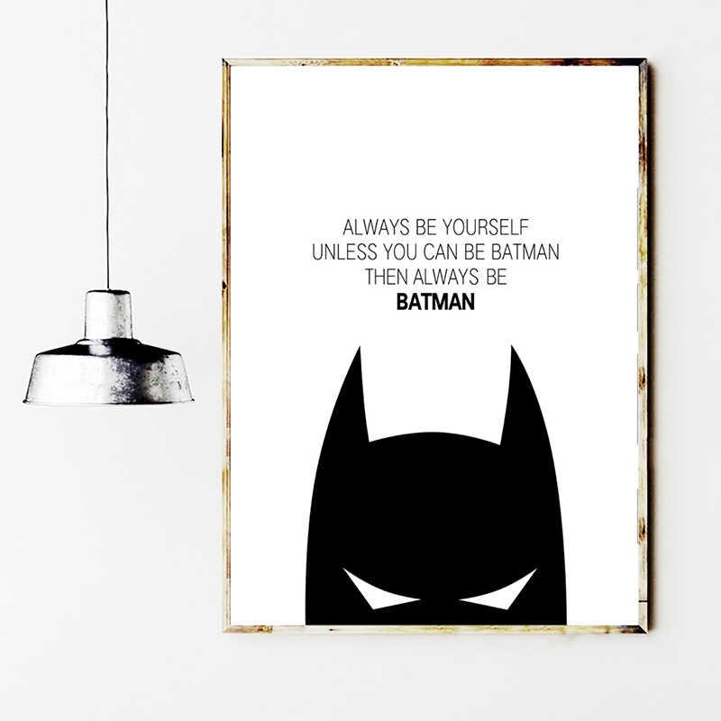 Basit Tuval Boyama Baskilar Ev Dekor Super Kahraman Batman Duvar