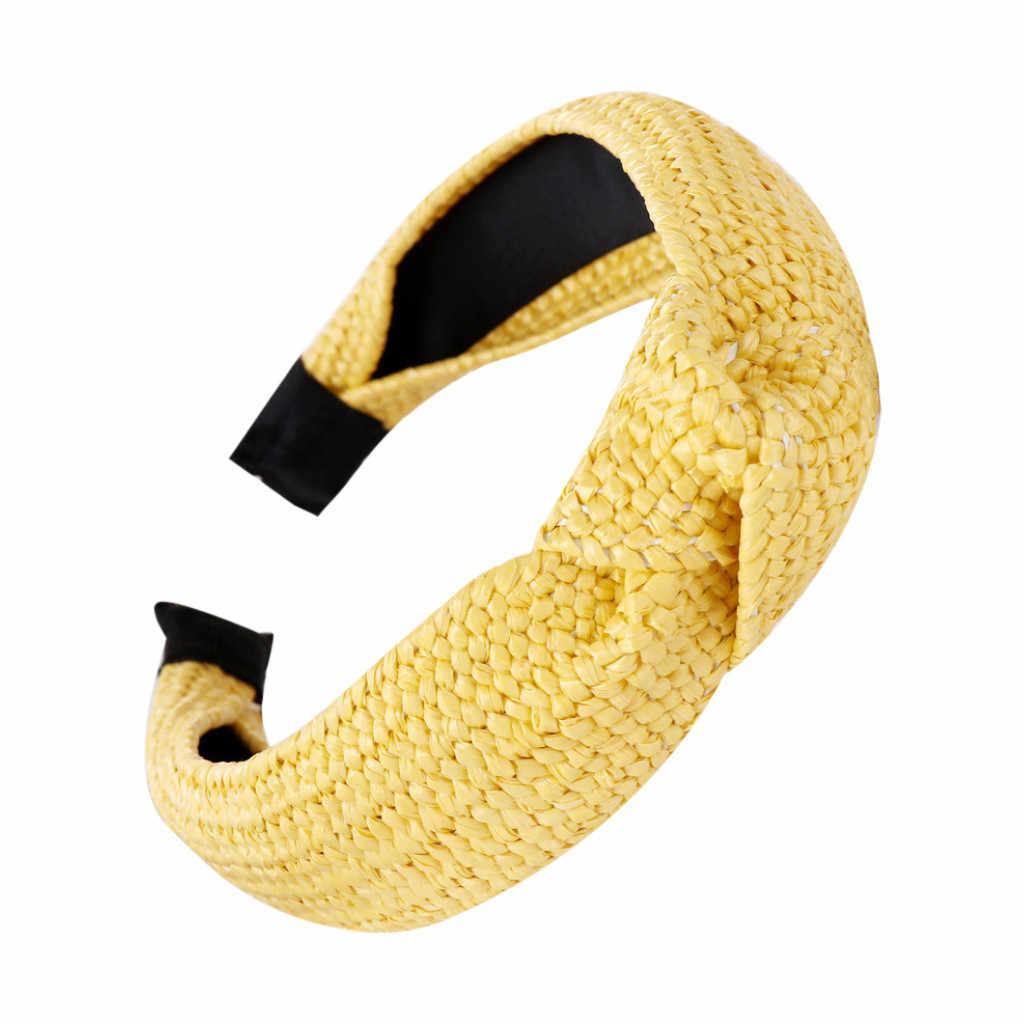 JAYCOSIN Mode Gevlochten Stro Haarband Vrouwen Haar Hoofd Hoepel comfortabele Zoete Meisjes haar Hoofdband haarbanden voor vrouwen augustus 20