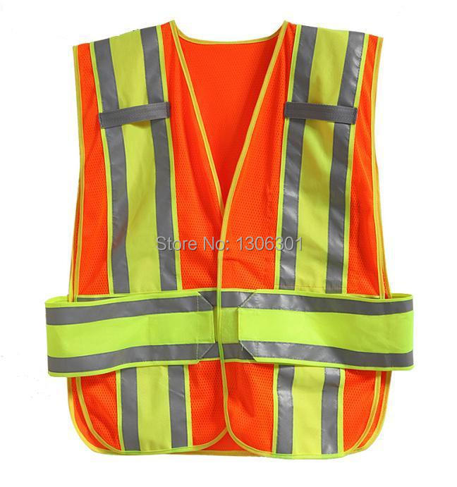 High visibility double warning tape Traffic safety vest ,Reflective clothes, sanitation work clothes