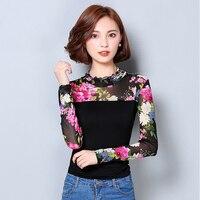 Floral Blouse Femme Long Sleeve Shirt Women Tops Lace Blouses 2016 New Fashion Winter Clothes Ladies