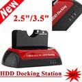 """HDD Docking Dual Doble Todo en 1 2.5 """"/3.5"""" USB SATA IDE 3.0/2.0 Estación de Muelle 70 MB/S Clonación 5 GB/s de Velocidad de Transferencia de Enchufe de EE.UU."""