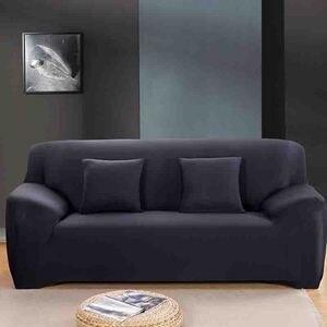 Image 1 - โมเดิร์นแฟชั่นสีบริสุทธิ์ยืดหยุ่นสำหรับห้องนั่งเล่นโซฟายืดโซฟาเบาะโซฟาล้างทำความสะอาด Slipcover