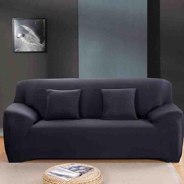 โมเดิร์นแฟชั่นสีบริสุทธิ์ยืดหยุ่นสำหรับห้องนั่งเล่นโซฟายืดโซฟาเบาะโซฟาล้างทำความสะอาด Slipcover