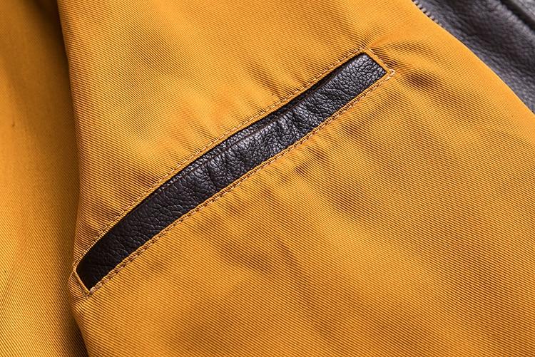 MAPLESTEED Men Leather Jacket Military Pilot Jackets Air Force Flight A2 Jacket Black Brown 100% Calf Skin Coat Autumn 4XL M154